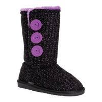 MUK LUKS Girls' Malena Boot Ebony/Lilac