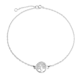 Bling Jewelry Celtic Tree of Life Anklet 925 Silver Adjustable 10in
