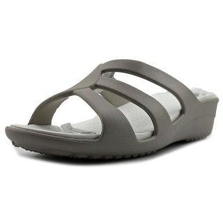 Crocs Sanrah Women  Open Toe Synthetic Gray Wedge Sandal