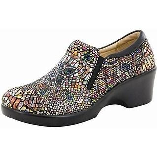 Alegria Womens Eryn Leather Closed Toe Clogs