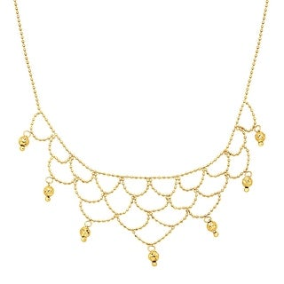 Just Gold Beaded Bib Necklace in 10K Gold - Yellow