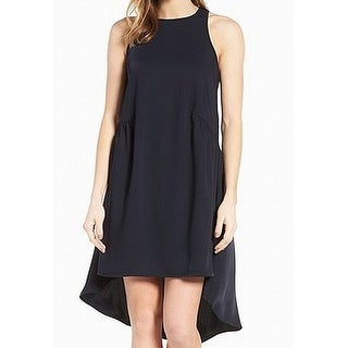 Pleione Black Womens Size PXL Petite High-Low Solid Shift Dress