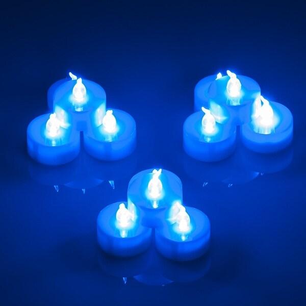 Luckypet 24pcs LED Tea Light Tealight Candles Blue