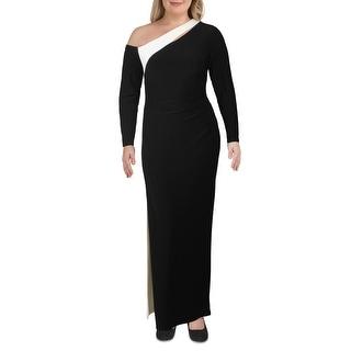 Link to Lauren Ralph Lauren Womens Formal Dress 2 Tone Colorblock - Black/White Similar Items in Dresses