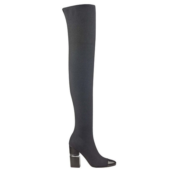Marc Fisher Womens Petela Fabric Closed Toe Over Knee Fashion Boots