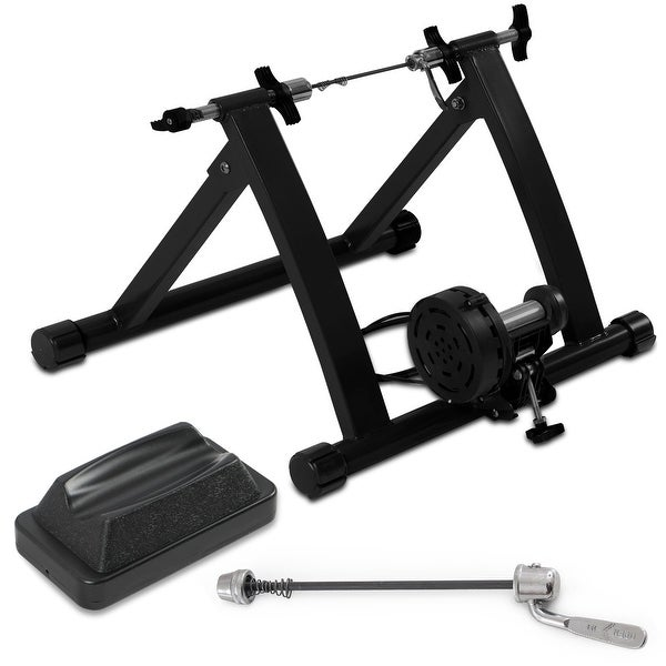 Akonza Bicycle Cycling Magnetic Trainer W/ 7-Levels Resistance Exercise Stand - Black