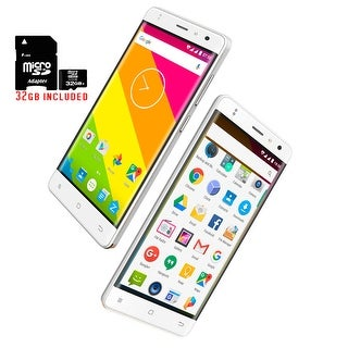 Indigi NEW! Slim 5in 4G LTE Unlocked SmartPhone Android 6.0 Marshmallow - 32gb included - White