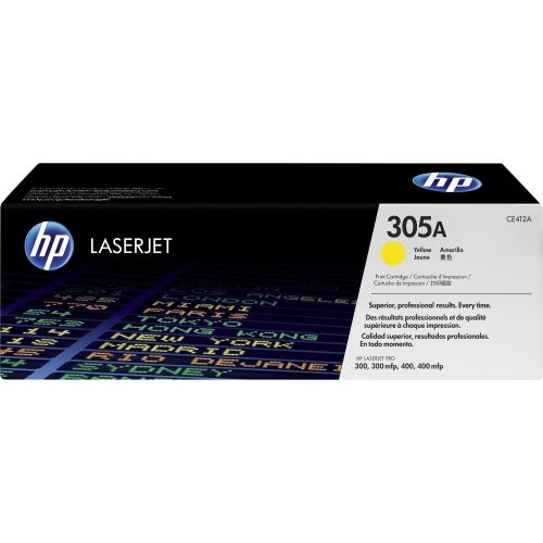 HP 305A Yellow Original LaserJet Toner Cartridge for US Government (CE412AC)(Single Pack)