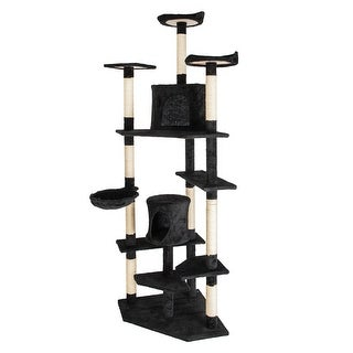 "Link to 80"" Solid Cute Sisal Rope Plush Cat Climb Tree Cat Tower Pets House Similar Items in Cat Furniture"