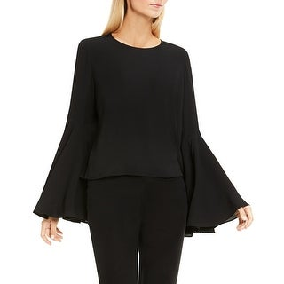 Vince Camuto Womens Blouse Bell Sleeve Keyhole Back - xs