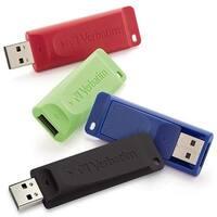 Verbatim 99123 16Gb Store 'N' Go Usb Flash Drive - 4Pk - Blue - Green - Red - Black