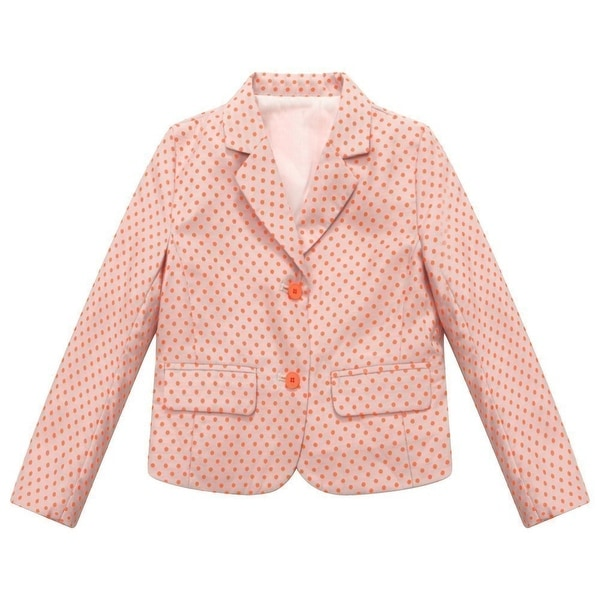 Richie House Baby Girls Pink Red Dot Print Small Coat 24M - 24 months