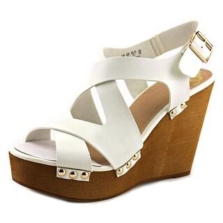 Fergalicious Lauren Open Toe Synthetic Wedge Sandal