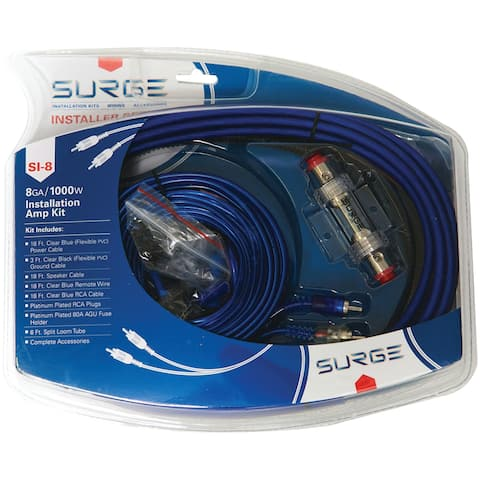 Surge si-8 installer series amp installation kit (8 gauge, 1,000 watts)