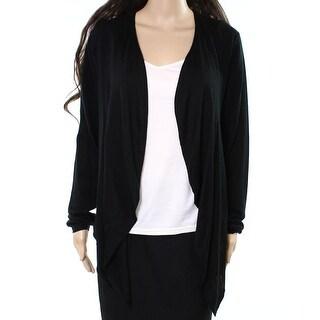 Burberry NEW Midnight Black Womens Size XL Draped Cardigan Sweater