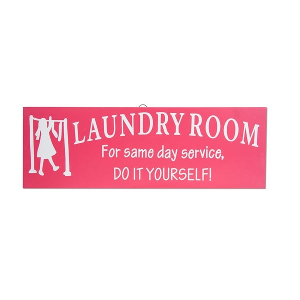 Laundry Room Same Day Service Wood Sign
