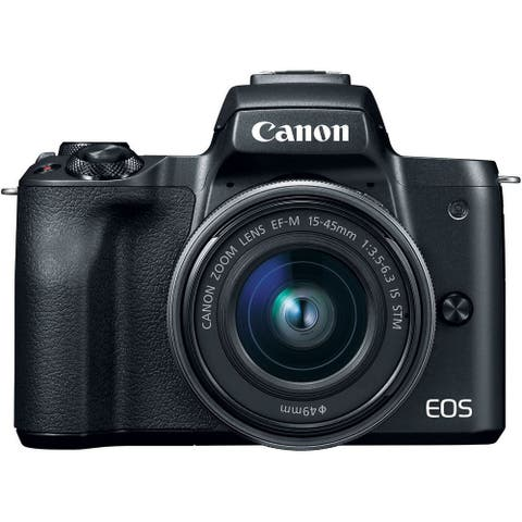 Canon EOS M50 15-45mm f/3.5-6.3 IS STM Mirrorless Digital Camera