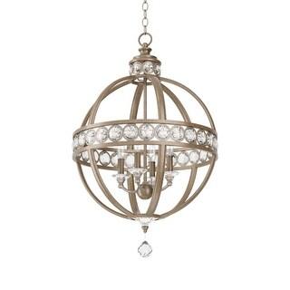 """Park Harbor PHPL5204 21"""" Wide 4 Light Chandelier with Globe Cage Frame"""