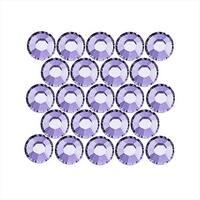 Swarovski Crystal, Round Flatback Rhinestone SS12 3mm, 50 Pieces, Provence Lavender