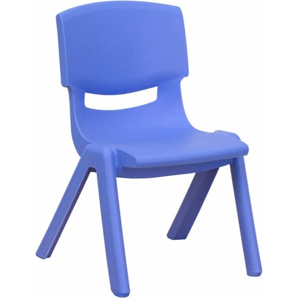 Offex Blue Plastic Stackable School Chair with 10.5'' Seat Height [OF-YU-YCX-003-BLUE-GG]