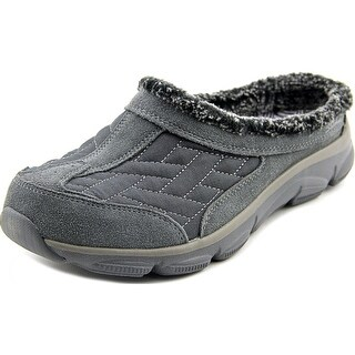 Skechers Comfy living-chillax Women Round Toe Suede Gray Clogs