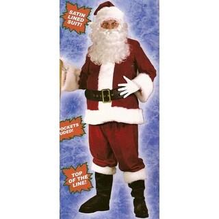 Santa Claus Ultra Velvet Christmas Costume - Plus Size Men's XL (50-54)