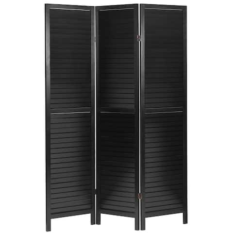 6 ft. Tall Wooden Louvered Room Divider