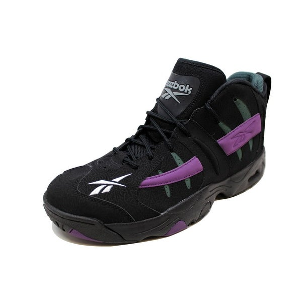 Reebok Men's Rail Black/Purple-Olive Green Milwaukee Bucks V54958