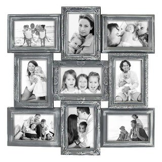 """Hello Laura - 9 Opening Wall Hanging Photo Frame,4 x 6"""", Black"""