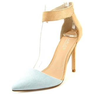 Charles By Charles David Pointer Women Pointed Toe Synthetic Blue Slingback Heel