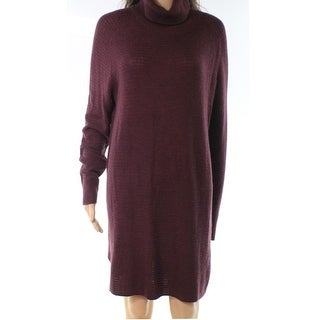 Halogen Purple Womens Size Large L Knitted Turtleneck Sweater Dress