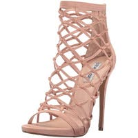 Steve Madden Womens Ursula Fabric Open Toe Formal Strappy Sandals