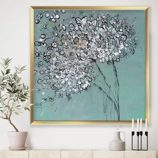 Link to Designart 'Teal Blossoming Dandelion' Modern & Contemporary Framed Art Print Similar Items in Art Prints
