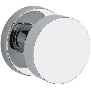 Baldwin PS.CON.CRR  Modern Passage Door Knob Set with Modern Round Rose from the Reserve Collection - Satin Black