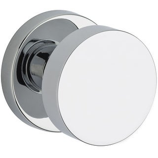 Baldwin PV.CON.CRR  Modern Privacy Door Knob Set with Contemporary Round Rose from the Reserve Collection - Satin Black