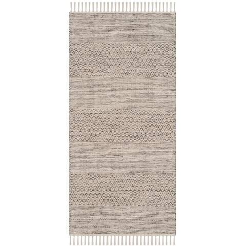 SAFAVIEH Handmade Montauk Pacuta Flatweave Cotton Fringe Rug