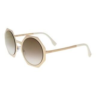 Fendi FF0152S 0DDB Gold Copper Geometric Sunglasses