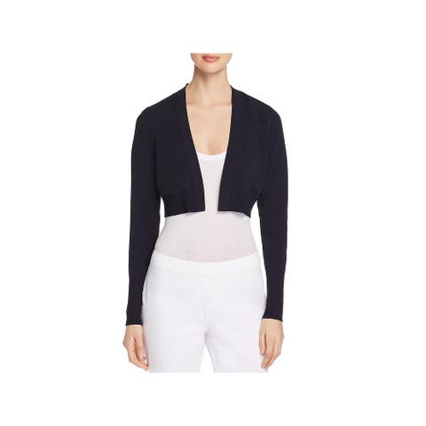 Elie Tahari Womens Hamilton Cardigan Sweater Cropped Open Front