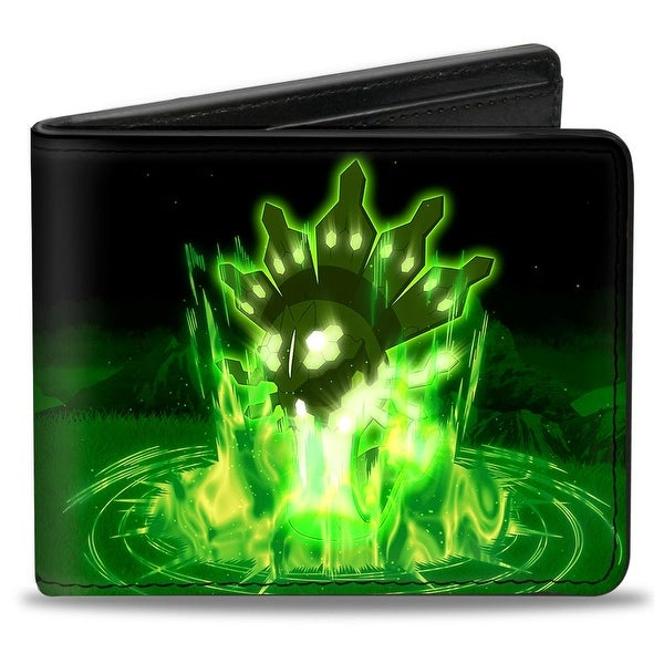 Pokmon Zygarde 50% Forme Mountainscape Black Greens Bi Fold Wallet - One Size Fits most