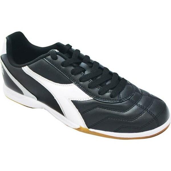 658a16c4fe Diadora Men's Capitano Indoor Soccer Shoe Black/White/Silver