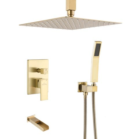 """CLihome 10 In. Ceiling Mount Shower System Shower Combo - 10"""""""