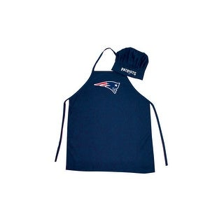 New England Patriots NFL Barbecue Apron and Chef's Hat Set Game Day Tailgating