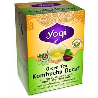 Yogi 27024 Organic Green Kombucha Decaf Tea