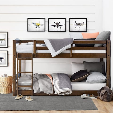 Avenue Greene Nola Mocha Twin Floor Bunk Bed