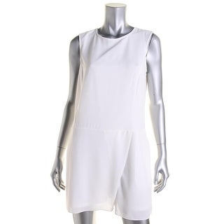 Wyatt Womens Crepe Sleeveless Romper - L
