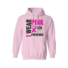 Unisex Pullover Hoodie Breast Cancer Awareness I Wear Pink for my Friend
