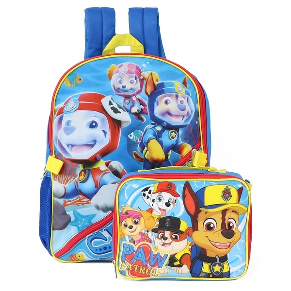 Nickelodeon Paw Patrol Backpack With Lunch Backpack