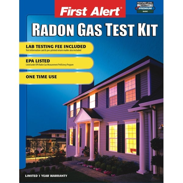 First Alert RD1 DIY Home Radon Test Kit with All Test Materials