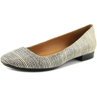Calvin Klein Felice Linear Viper Women Round Toe Synthetic White Flats