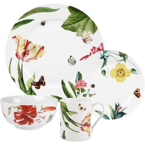 Royal Worcester Essentials Floral Haven 16 Piece Set - Multi-Color